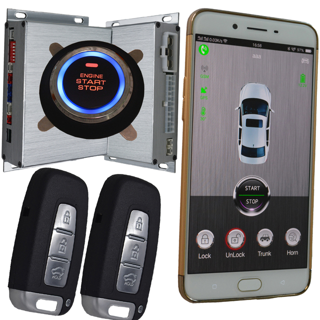 Unlock Car With Phone >> Best Gps Car Alarm Smart Phone App Auto Ignition System