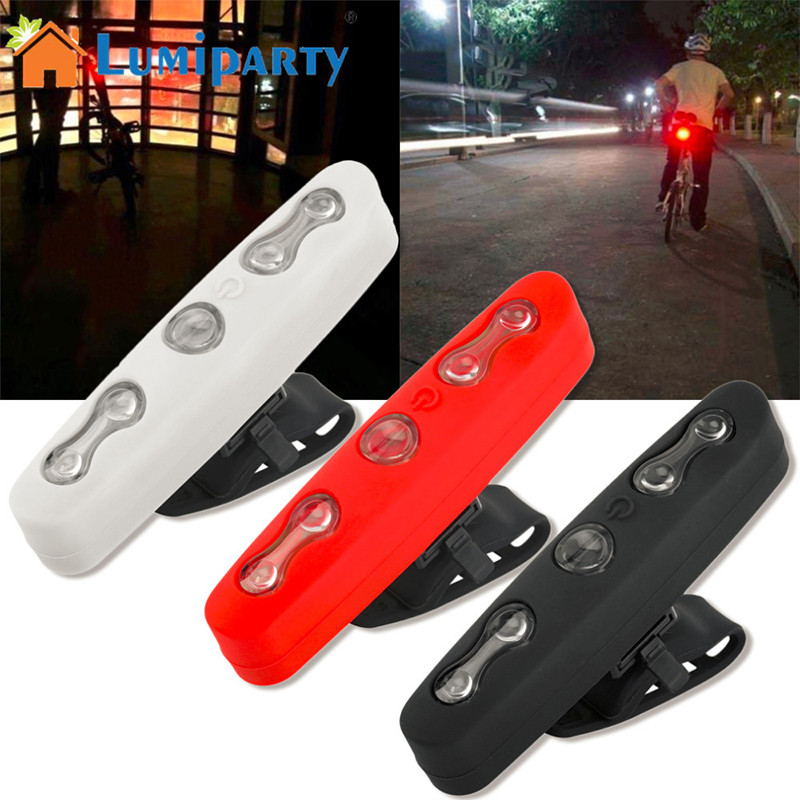 AKDSteel 5LED Bicycle Taillights Night Light Rear Bicycle Light Waterproof Bike Lamp Safety Cycling Emergency Warning Taillight