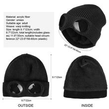 VBIGER Double-use Thickened Winter Knitted Hat Warm Beanies Skullies Ski Cap with Removable Glasses for Men Women