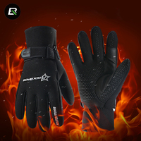 Rockbros Winter Ski Gloves Windproof Waterproof Thermal Snowboard Snowmobile Gloves Riding Motorcycle Gloves Guantes Nieve