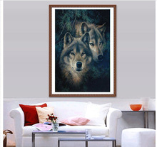 Crafts Diamond Embroidery Wolf Diy Full  Painting Kit for Square Drill Rhinestone Pasted Unfinish Room ZX