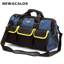 16″ Extra Large Electrician Tool Bag Belt 600D Oxford 20 Pockets Hardware Tool Holder Organizer Handbags 41x22x29cm