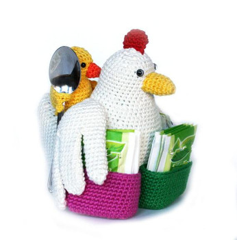 crochet toys  amigurumi  chick family model number 0910