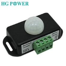Professional Automatic DC 12V 24V 8A Infrared PIR Motion Sensor Switch For LED light Human body Indction Sensor Control Detector цены