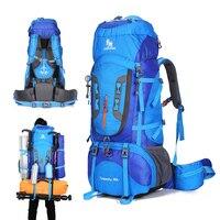 80L Camping Hiking Backpack Mountaineering Bag Large Capacity Trekking Rucksack Outdoor Backpack Hiking Camping Tent aluminum