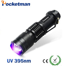 2018 NEW 2200LM CREE LED UV Purple Flashlight Violet Light UV 395nm torch Lamp free shipping