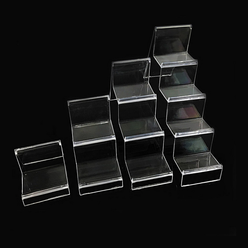 Mordoa Transparent Acrylic Display Shelf Mobile Wallet Glasses Rack Multilayer Reveal Frame1-2-3-4 Layer Jewelry Display Shelf