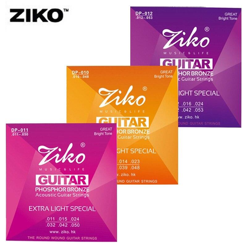 Dp011-050 ziko cuerdas de guitarra acústica de instrumentos musicales accesorios
