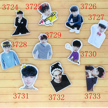 1 PC Cartoon Singer Acrylic Brooches EXO Lay Brooches Backpack Student Clothes Brooches Pins Bag Decor Brooch Badge For Girls(China)