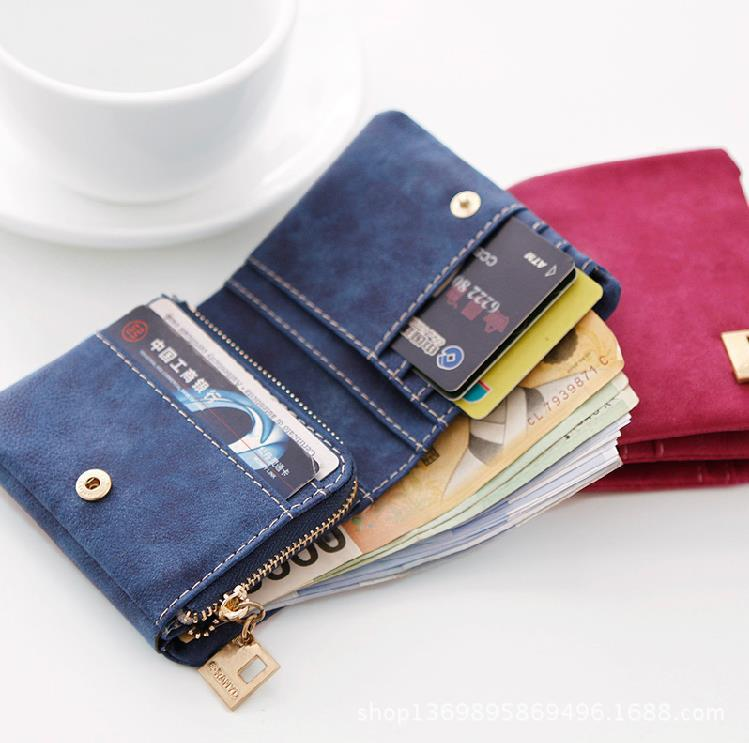 ced8104770e7 Women Wallets Ladies Small Wallet Zipper Roomy Women Coin Purse Female  Credit Card Wallet Purses Money Bag-in Wallets from Luggage & Bags on  Aliexpress.com ...