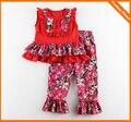 Baby girls floral clothes sets kids tops + pants 2pcs suit children boutique outfits