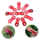 10Pcs Outdoor Camping Aluminum Alloy Cord Runners Rope Tensioners Tent Guy Line Rope Tensioners