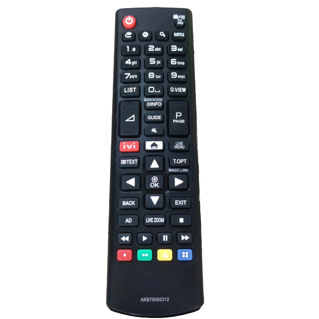 New AKB75095312 Replacement for LG LCD LED TV with IVI Remote Control 2017 43UJ634V Zd Fernbedienung