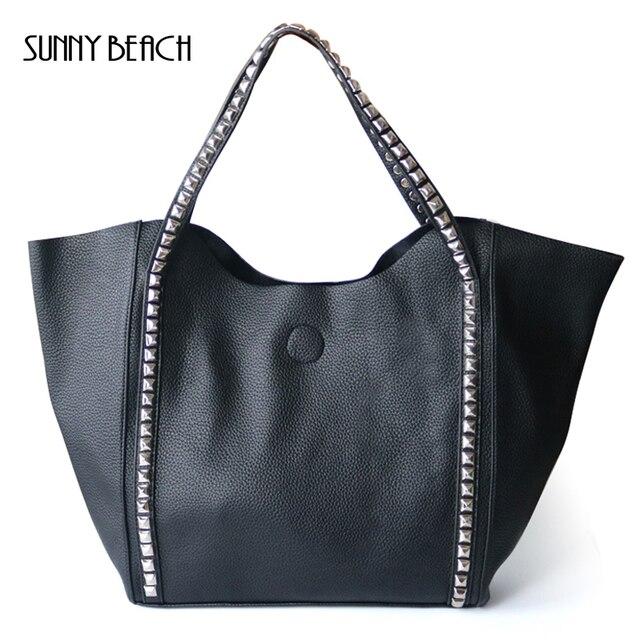 56fd65f01ac8 SUNNY BEACH Brand Large Rivet Handbags for Women Bags Casual Composite Bag  Shoulder bags Designer Bolsas