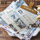 8pc/pack Vintage Newspaper letter journal Various Old objects Decorative Background Sticker DIY Scrapbooking Label Diary Sticker