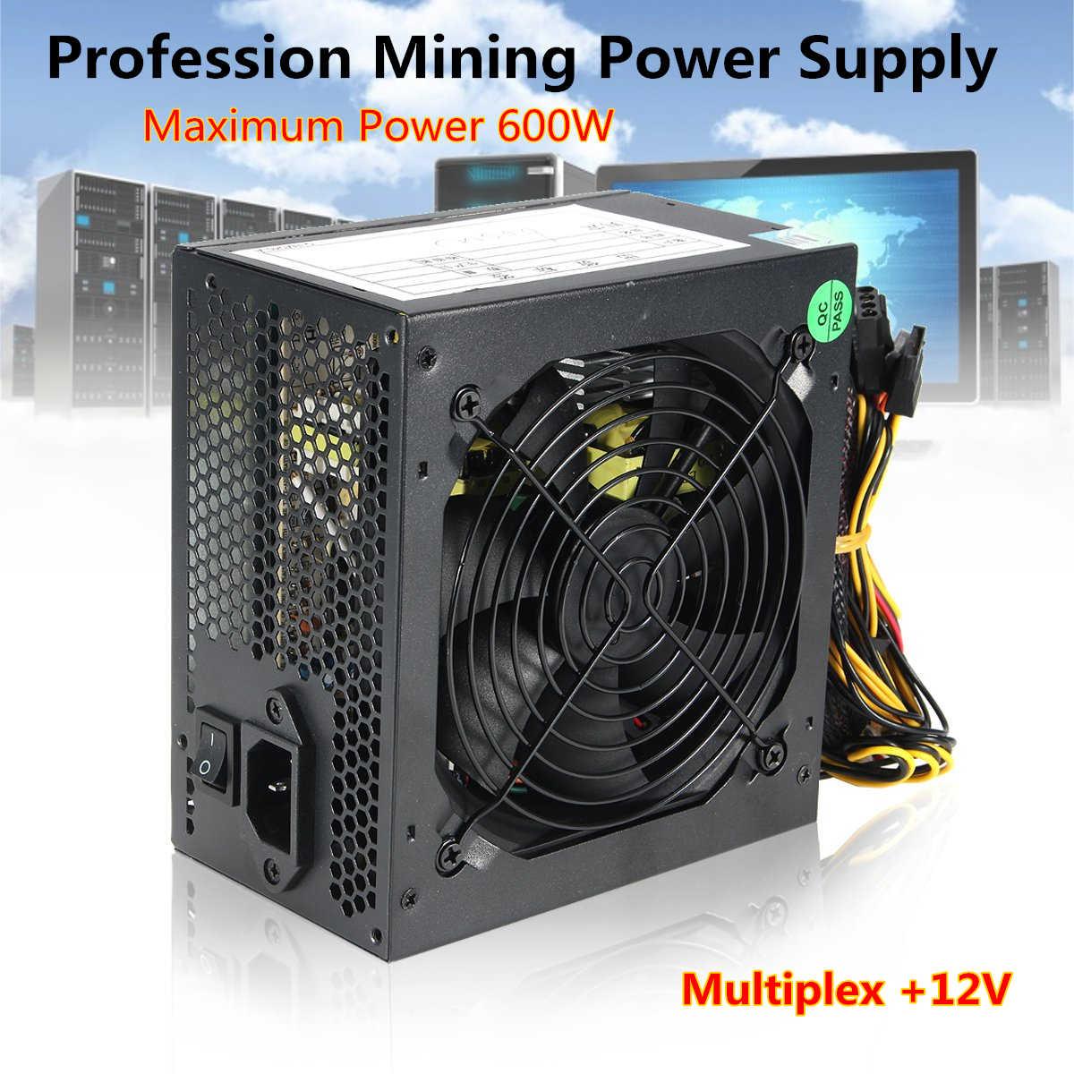600W cichy wentylator 120mm ATX 12V 4/8-pin moc PC zasilanie modułowy SLI podświetlany wentylator do wysokiej klasy komputerykonfiguracja PC