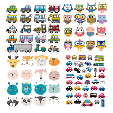 Set Of Patch Iron-on Clothes Cute Animal Cars Clothing Deco New Design Diy Accessory Heat Transfer Washable Badges
