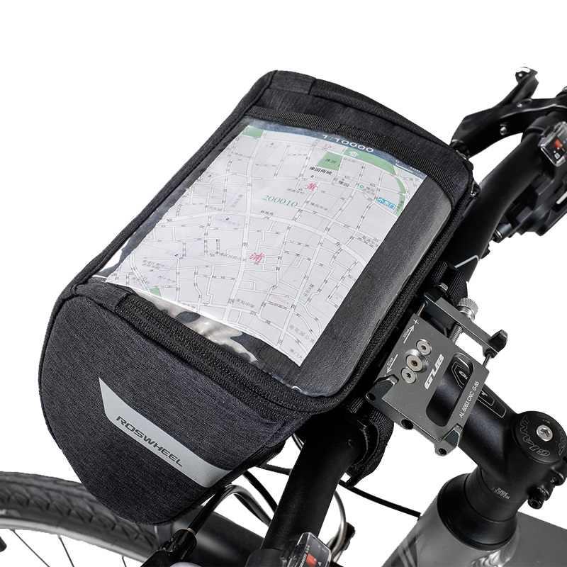 85b54ef90048 ROSWHEEL Essential 111467 Cycle Handlebar Bag Touchscreen Cycling ...