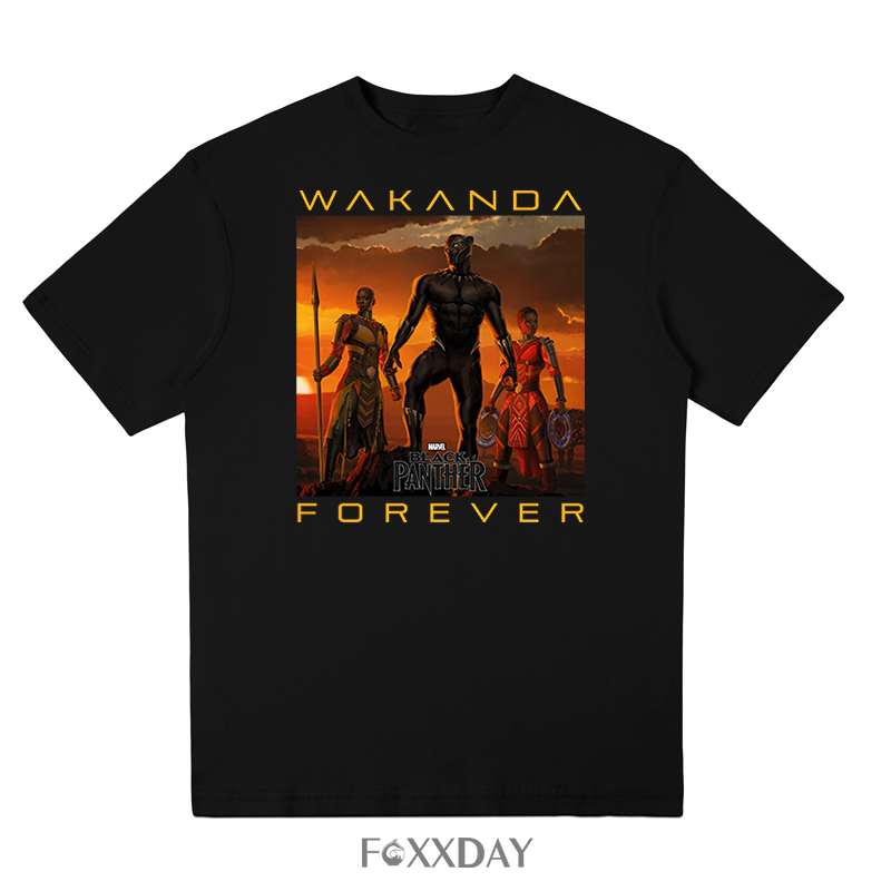 Men's black tops cool T shirt film black panther T-shirt king to wear Tees shirt personality casual domineering design Camiseta