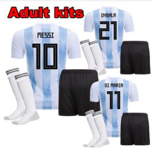 1da5e57e279 2018 adults T-shirt Camisa Argentina shirt 2018 men shirts Best Quality  adult kits Messi Mascherano Casual T-shirt free shipping