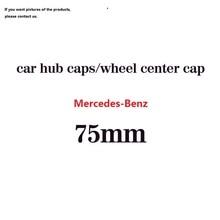 4pcs 75mm Black Plastic Car Wheel Center Caps Tyre Rim Hub Cap Cover Emblem for Mercedes-Benz AMG logo Car Hubcaps injora 4pcs black wheel rim