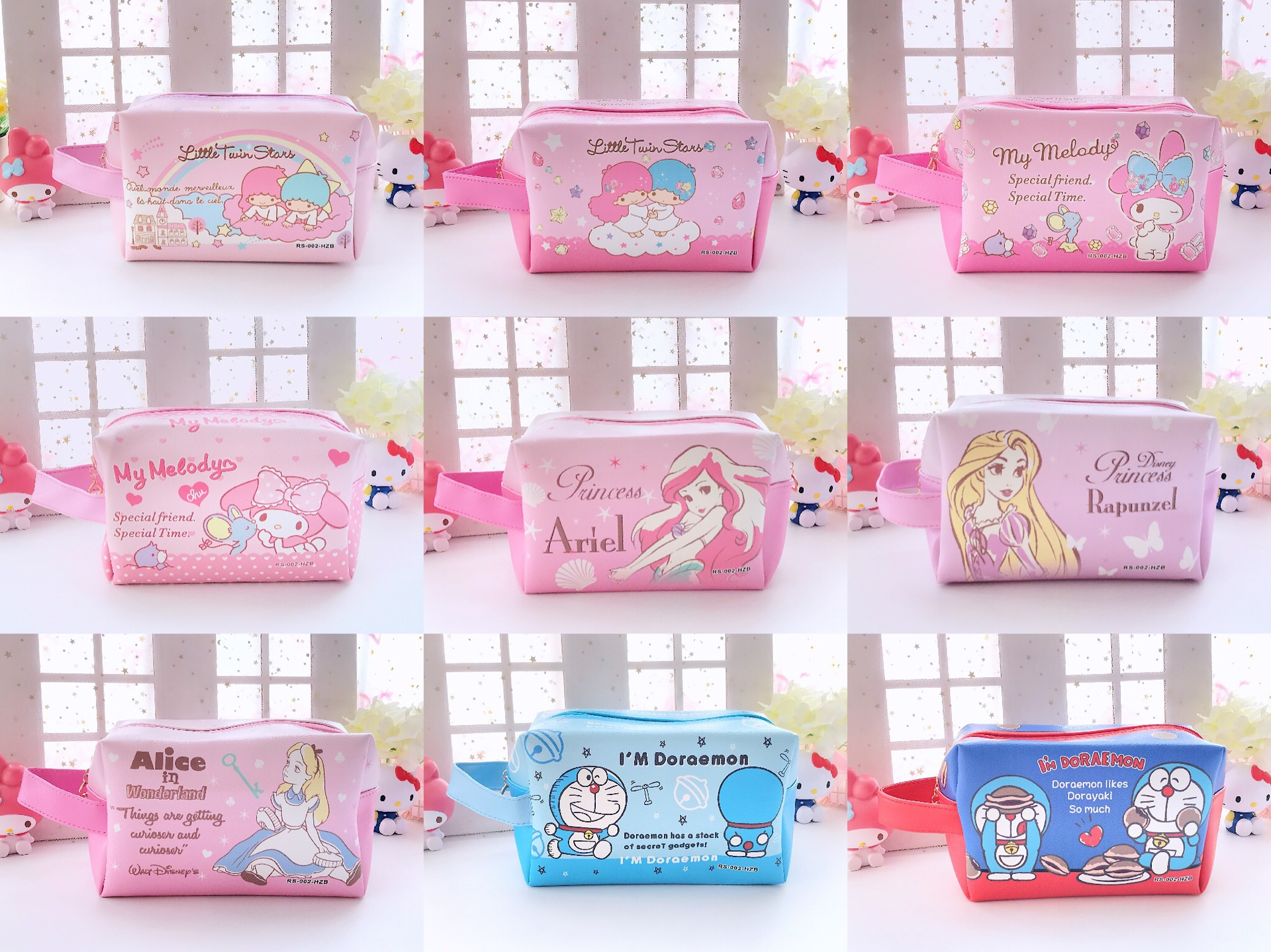1pc Cartoon Japan Little Twin Stars Melody Princess Alice Handbag Cosmetic Bags For Girls Gifts