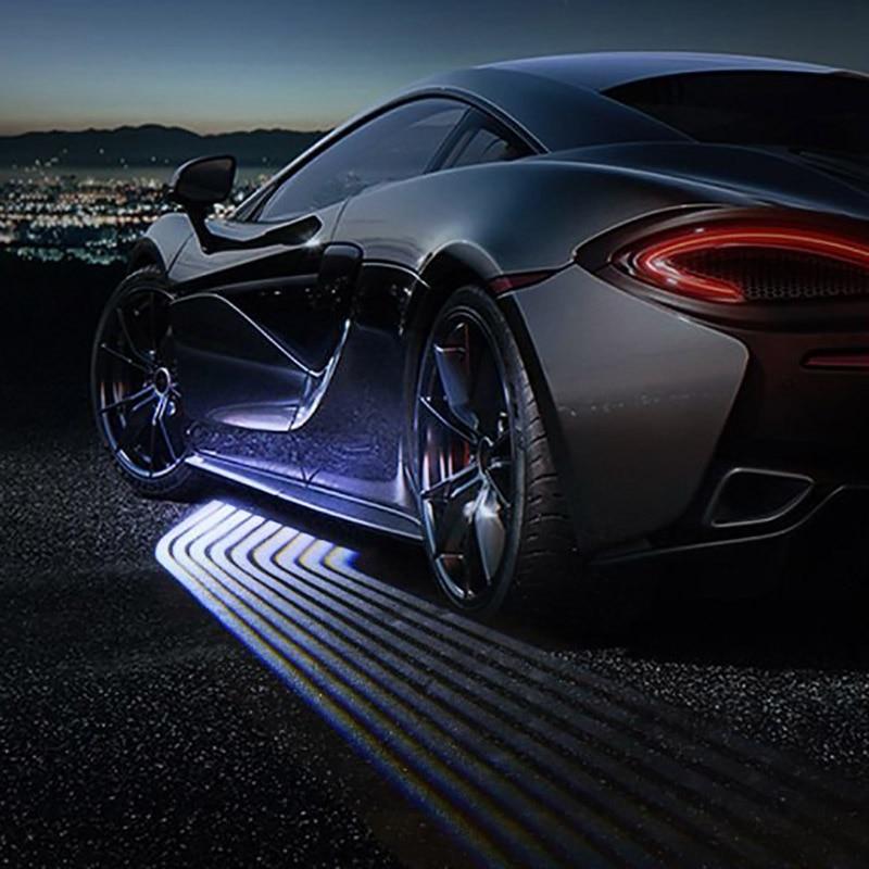 2X Angle aile fantôme ombre lumière WelcomeLamp voiture ou motos LED porte avertissement lumière pour BMW Maserati BENZ Fit pour universel