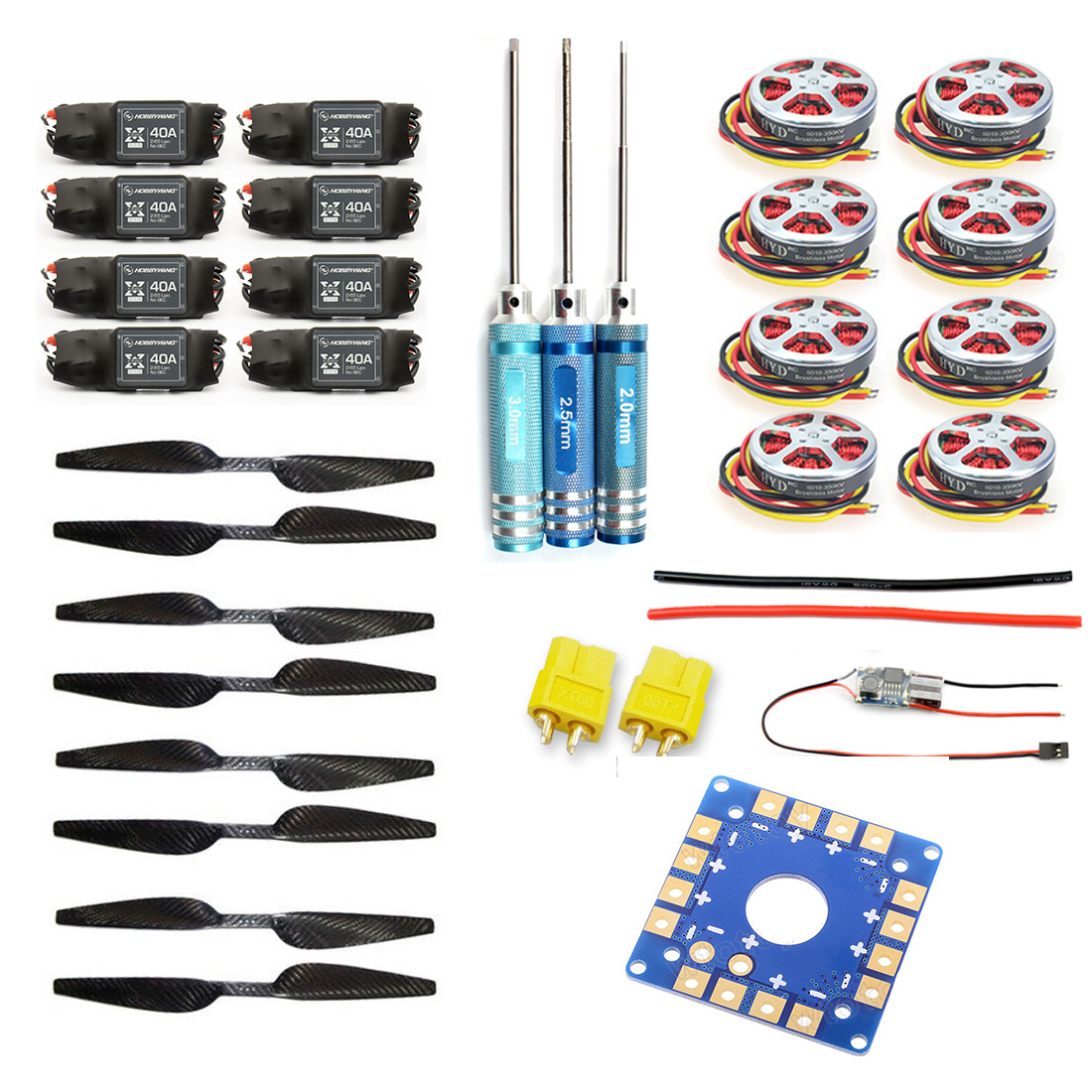 JMT Foldable Rack RC Helicopter Kit KK Connection Board+350KV Brushless Disk Motor+16x5.0 Propeller+40A ESC F05423-F 4set lot universal rc quadcopter part kit 1045 propeller 1pair hp 30a brushless esc a2212 1000kv outrunner brushless motor
