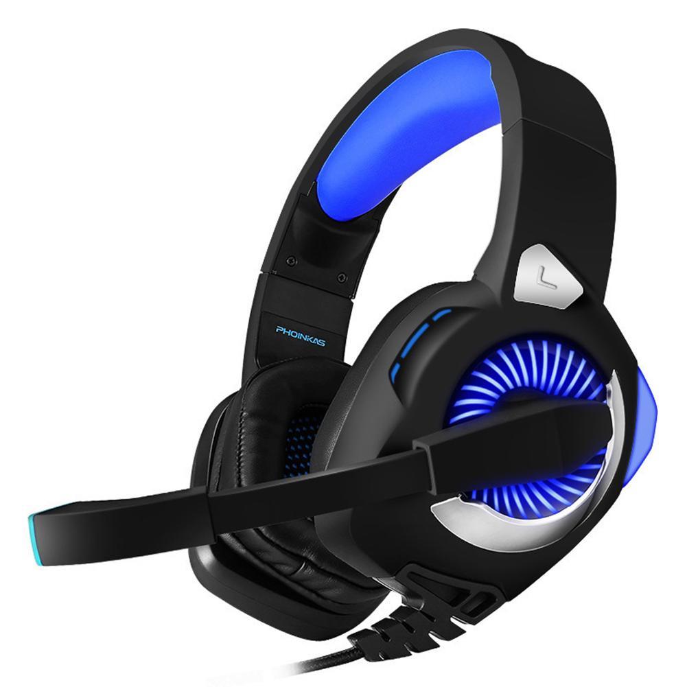 Casque de jeu Surround 3D 3.5mm pour PS4 Xbox One PC Mac LED lumières casque insonorisé 15Hz-20 KHz avec câble 2.1 m
