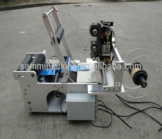 Low Price Semi-automatic Round Bottle Labeler With Date Printer