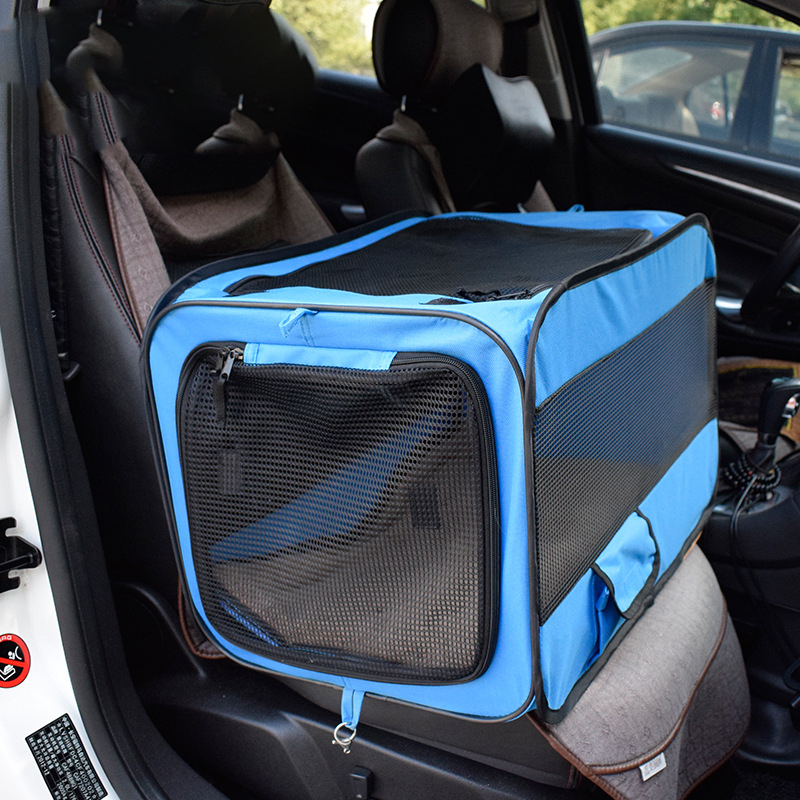 Pet Car Dog Transport Box Cage Dog Carriers Carrying For Small Dogs transportin perro hundebox auto bolso perro honden tassen-in Dog Carriers from Home & Garden    2