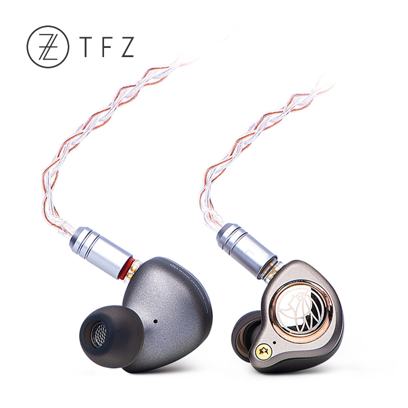 TFZ KING LTD HiFi In-ear Monitor Earphone IEM with Double magnetic circuit Graphene driver 2pin /0.78mm Detachable cable trn v80 quad driver hybrid hifi in ear monitor earphone carbon nanotubes iem 2pin 0 75mm detachable cable sport earphones