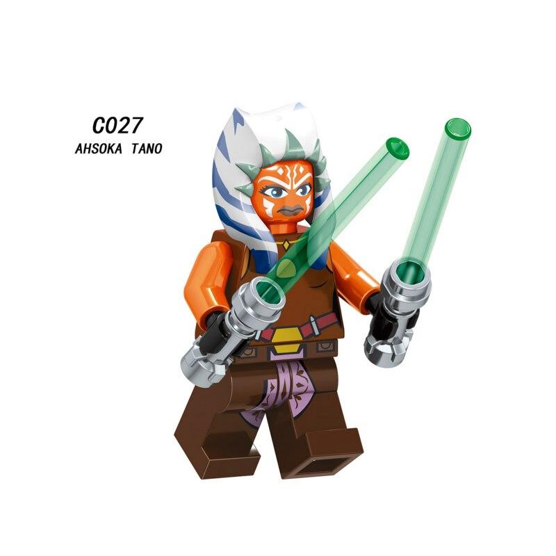 Single Sale Super Heroes Star Wars Ahsoka Tano 027 Model Building Blocks Figure Bricks Toys Kids Gifts Compatible Legoed Ninjaed