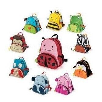 Hot Cute Zoo Animals Canvas Backpacks School Bags Children Cartoon Bag Kids Backpack BP-001 - Enchanting night store