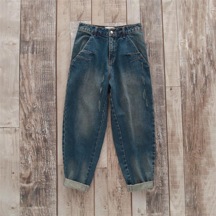 17 Winter Big Size Jeans Women Harem Pants Casual Trousers Denim Pants Fashion Loose Vaqueros Vintage Harem Boyfriend Jeans 21
