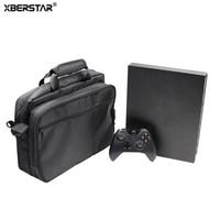 XBERSTAR Case Sac De Rangement Pour Xbox One X Jeu Console de protection Voyage Cas la Réalisation Valise Sac Boîte de Poche Sac À Main Noir nouveau