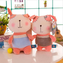 цена Creative Lovely Cartoon Little Dog Short Plush Toy Stuffed Animal Plush Doll Children Birthday Christmas Gift онлайн в 2017 году