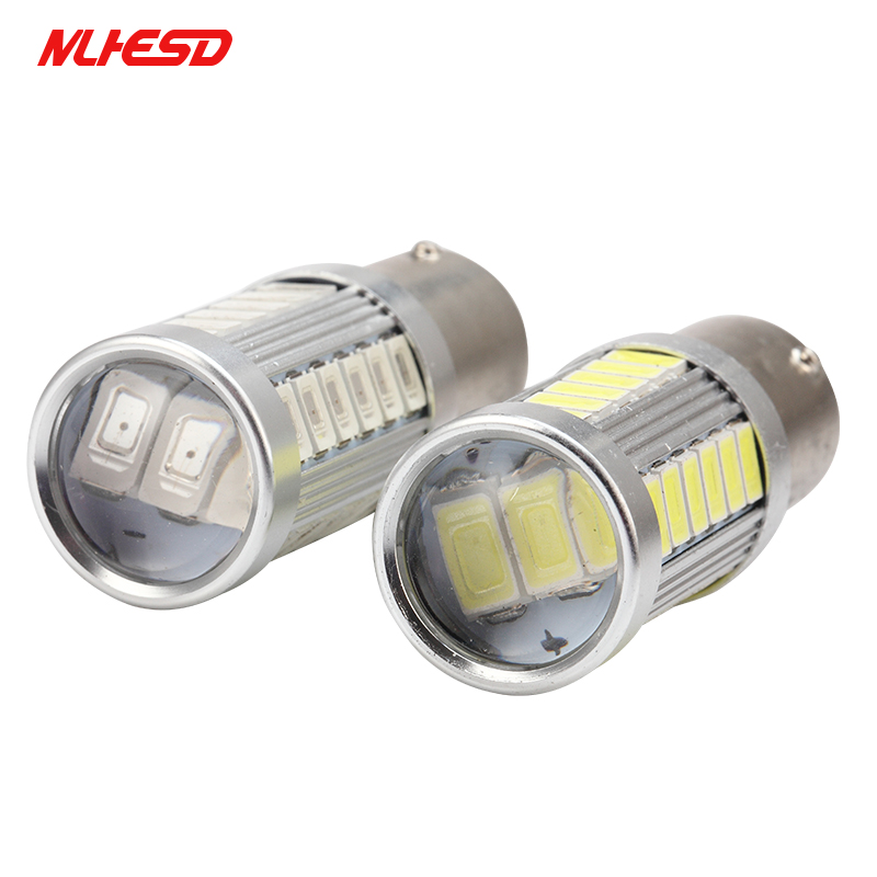1X 1157 BAY15D Super Bright 5730 LED Bulb 33SMD Car Rear light Stop Bulbs Auto Brake Back Fog Lights lamps 12V white/red/yellow cyan soil bay h11 h8 2835 66 smd led 6000k auto projector fog daytime driving light bulb white red amber car bright than 33 smd