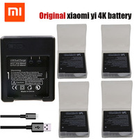 Original 4pcs Xiaomi Yi 4K Battery USB Dual Charger Bateria Yi 4k For Original Xiaomi Yi