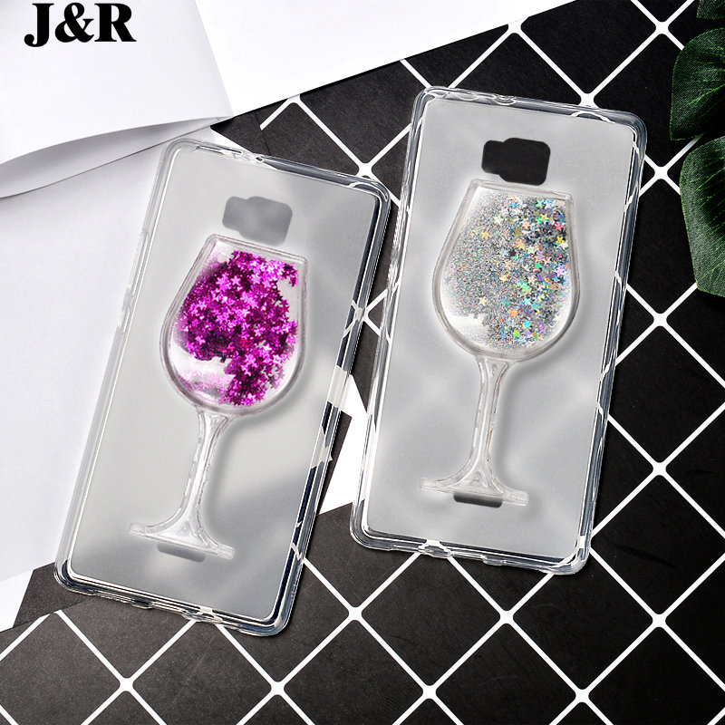 Case For Huawei Honor Bee Y541 Y5C Y541-U02 3D Liquid Transparent Soft TPU Cover Quicksand Dynamic Wine Glass Back Shell Bling ...