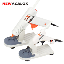 NEWACALOX 20W/150W Glue Gun EU/US 100-240V High Temp Hot Glue Gun 7mm/11mm Hot Melt Glue Sticks Graft Repair Pneumatic DIY Tools newacalox eu plug hot melt glue gun 10 pcs glue sticks 4 pcs fixed clip carving knife set a4 cutting mat diy combination set