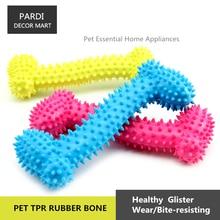 TPR eco-friendly pet toy large rubber thorn bone pet toy molar toy bite resistance pet training essential 1pc/lot