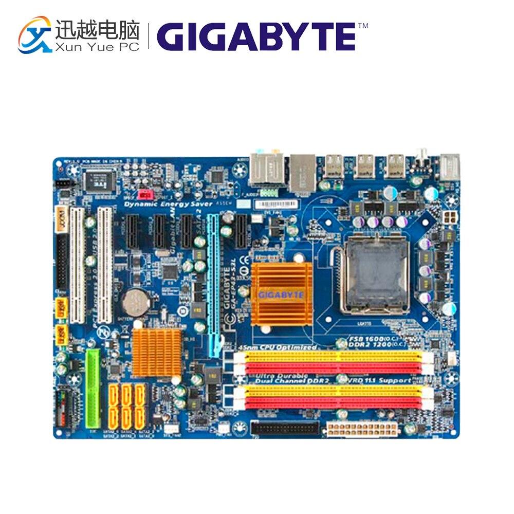 Gigabyte GA-EP43-S3L Desktop Motherboard EP43-S3L P43 LGA 775 DDR2 16G SATA2 USB2.0 ATX