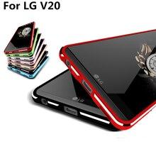 Для Fundas LG V20 противоударный чехол Роскошные Делюкс ультра тонкий алюминиевый бампер для LG V20 5.7 «-дюймовый