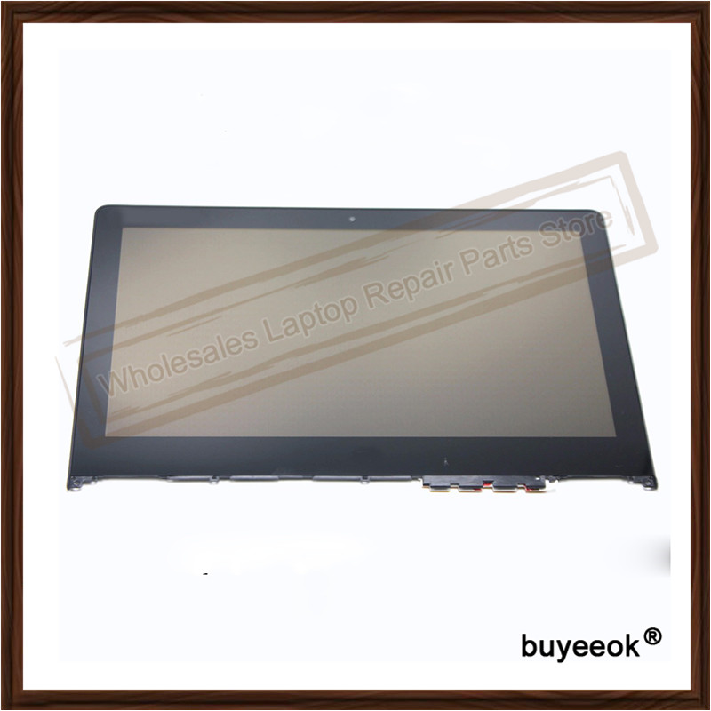 Original 700-11ISK LCD Display with Frame Bezel for Lenovo Yoga Touch Screen Panel Assembly N116HSE-EBC 11.6