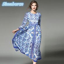 Платье женское длинное из шифона с цветочным принтом