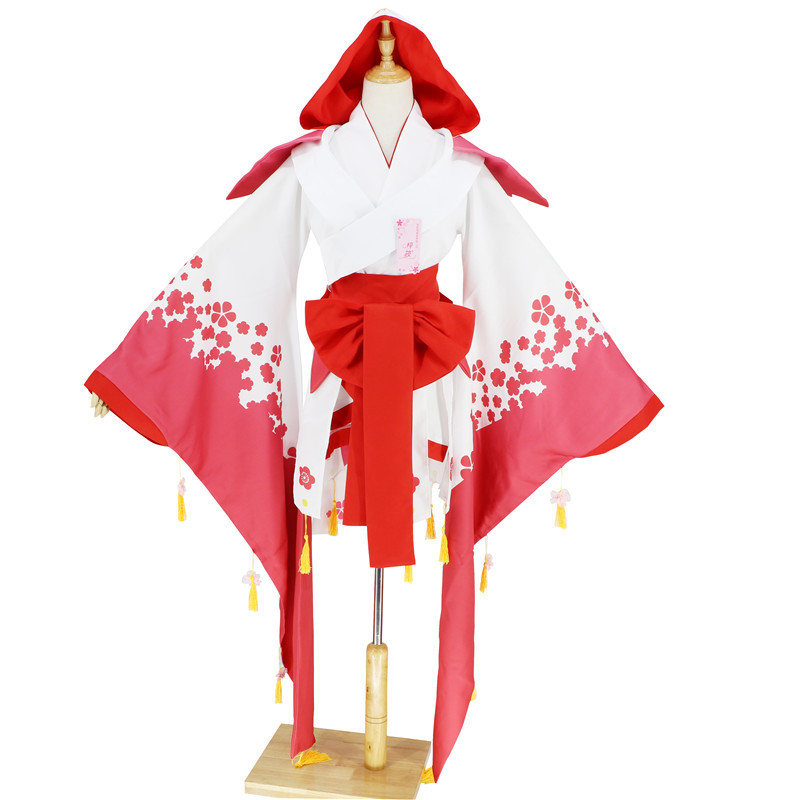 Game Onmyoji Cosplay Costume Long Sleeve Tassels Polyester Kimono Women Halloween Carnival Garment D083268