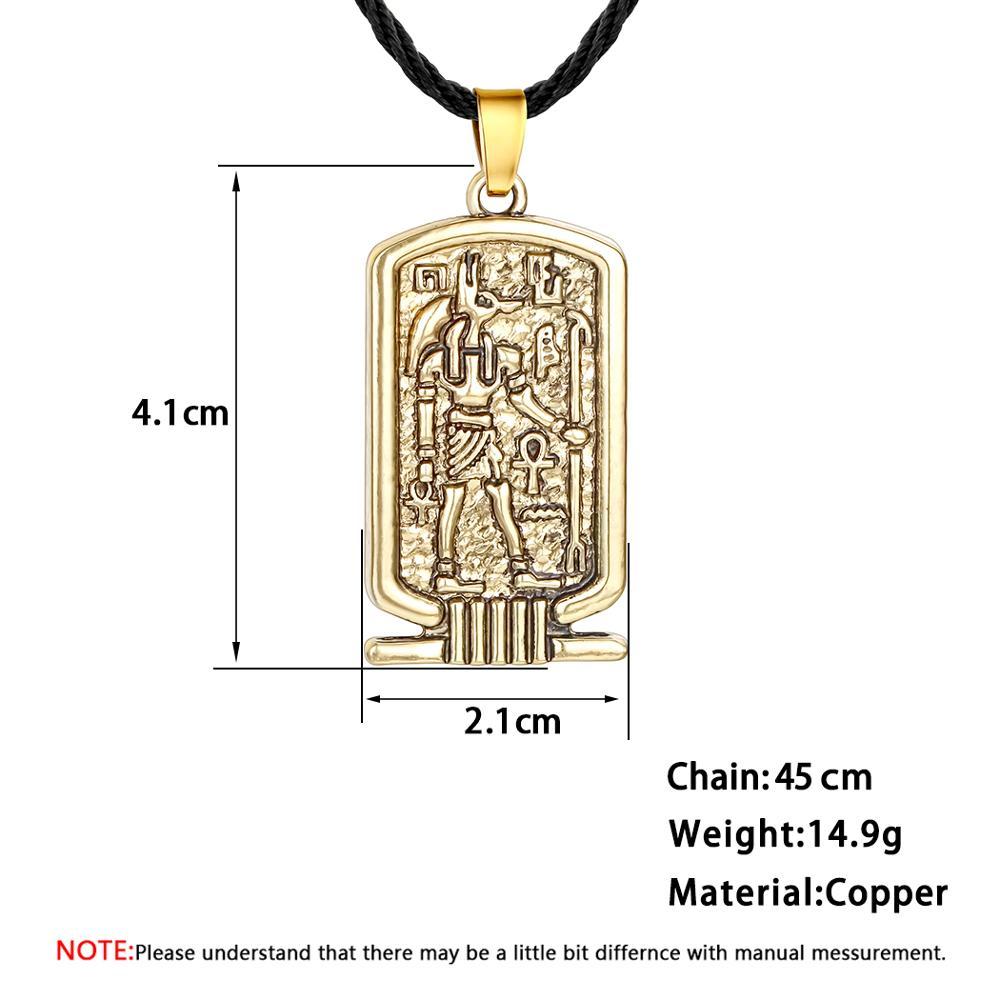 Ancient Egypt Women Men Necklaces/&Pendants Bronze Square Vintage Retro Runes Ethnic Jewelry