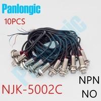 10PCS NJK 5002C NPN NO 10mm Hall Effect Sensor Proximity Switch DC 6 36V Inductive Proximity