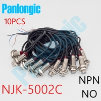 10PCS NJK 5002C NPN NO 10mm Hall Effect Sensor Proximity Switch DC 6 36V Inductive Proximity